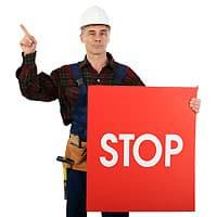 Achtung-Warnung-Stop