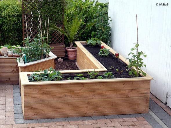 Hochbeet für Gemüse selber bauen