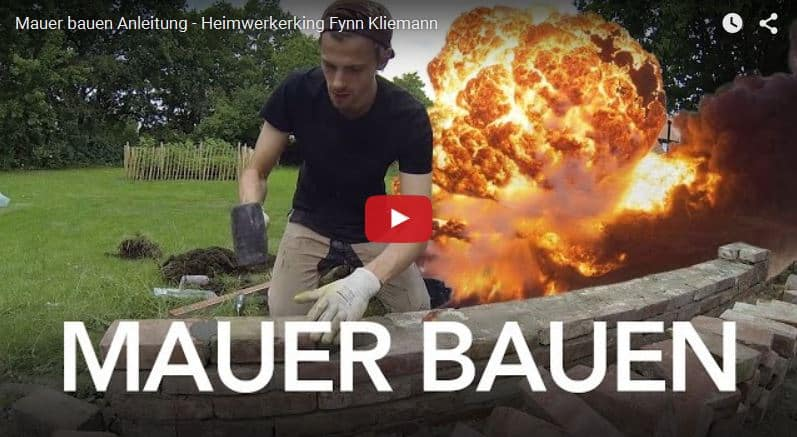 Fynn der Heimwerkerking – Video Anleitung zum Mauer bauen