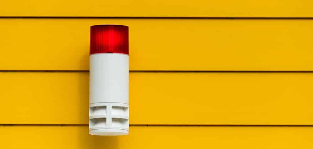 Alarmanlage an Hausfassade