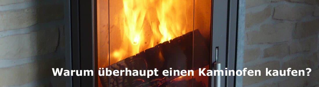 Auschnitt Kaminofen Feuer