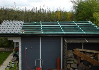 Unterkonstruktion mit Dachlatten