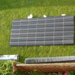 Blechdach für das Gartenhaus – Lieferumfang