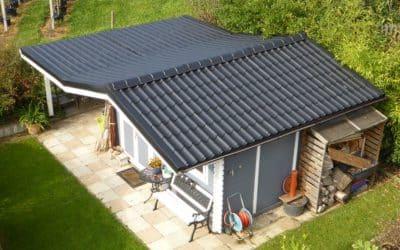 Dach beim Gartenhaus mit Pfannenblechen nachhaltig abdichten