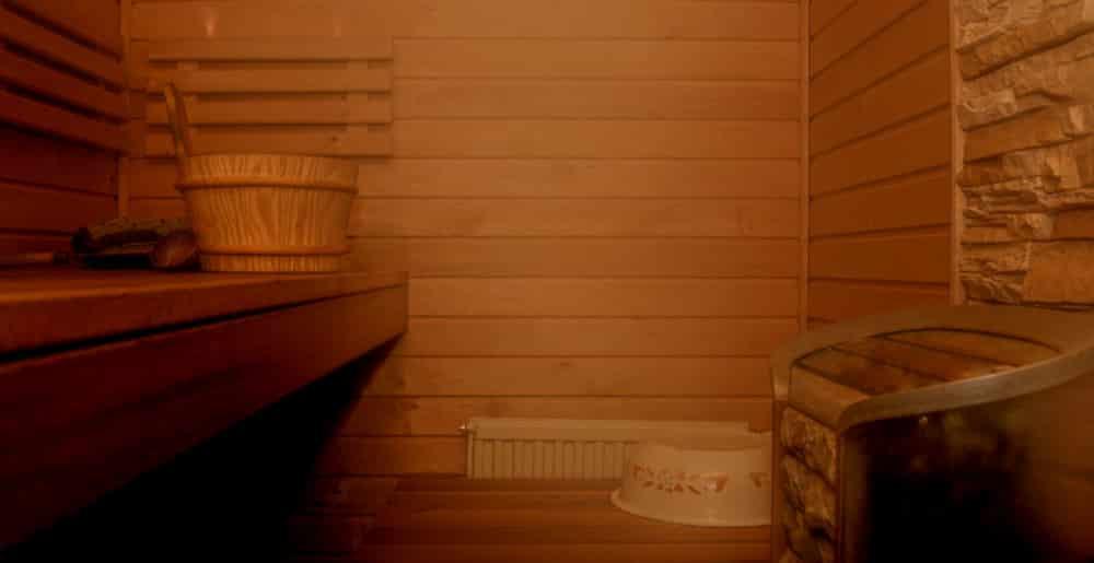 Gemütliche Atmosphäre in der Sauna
