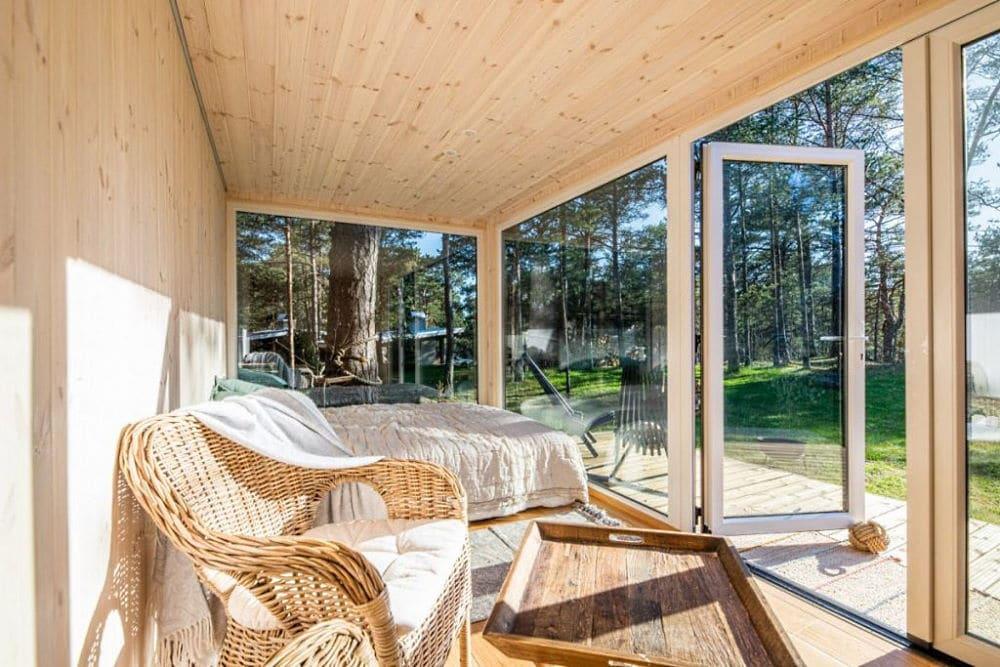 Isoliertes Gartenhaus aus Holz