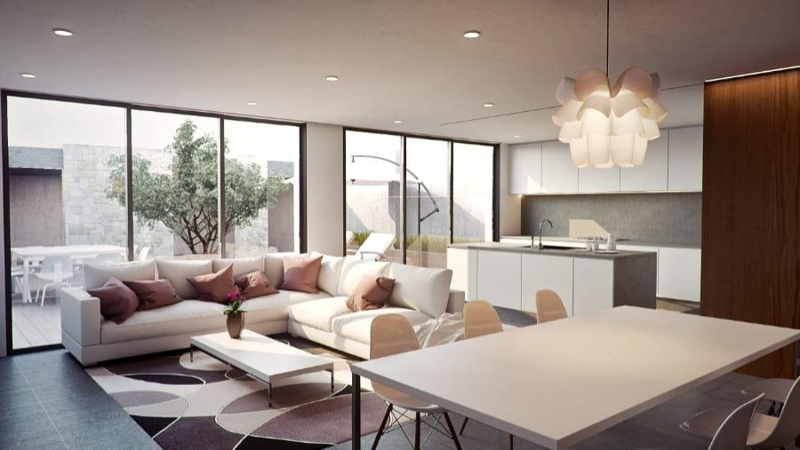 Moderne Inneneinrichtung mit tollen Möbeln