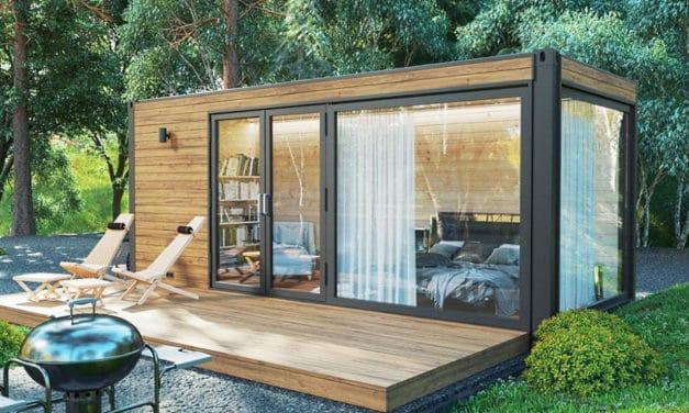 Mit eigenen Händen gebaut: Das Gartenhaus aus Holz mit einem Fundament ohne Beton