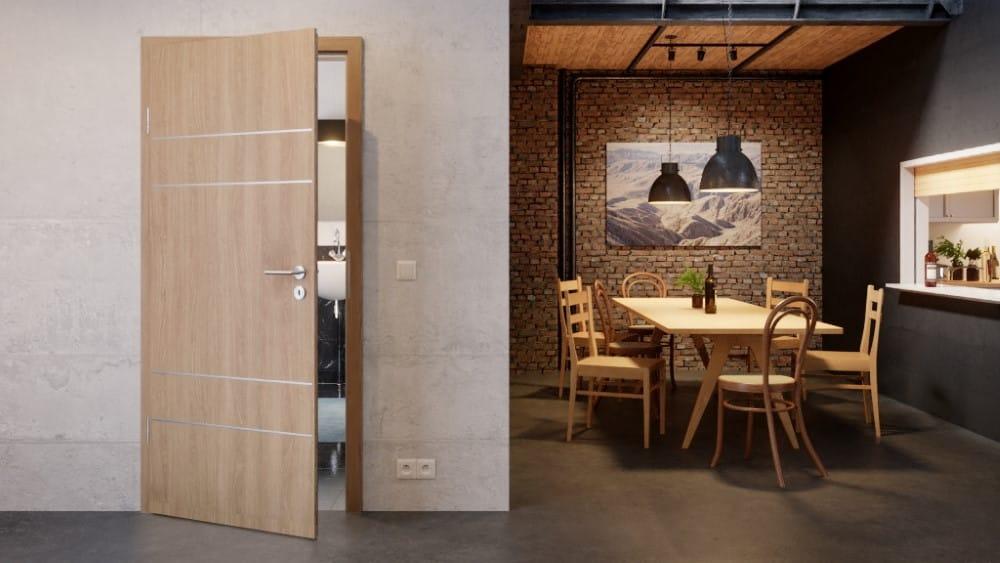 Schöne Innentür in moderner Wohnung