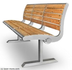 Sitzbank aus Edelstahl