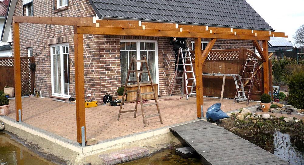 TerrassenUberdachung Holz Oder Aluminium ~ Holz oder Metallkonstruktion