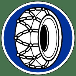 Verkehrszeichen 268 - Schneekettenpflicht