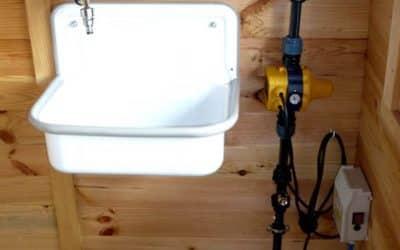 Wasseranschluss im Gartenhaus