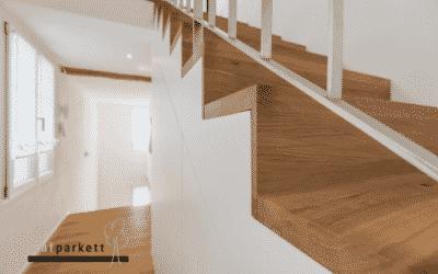 Heimwerker-Idee: Treppen mit Laminat oder Parkett belegen