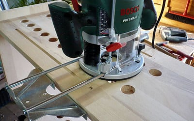 Produkttest: Holzregal mit Oberfräse verschönern
