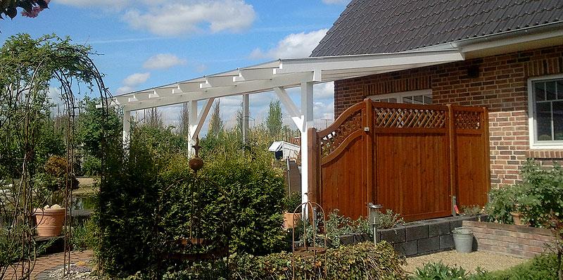 Sichtschutzwand an der Terrasse